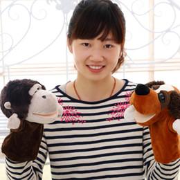 Wholesale Nici Giraffe - Wholesale-Nici plush hand puppet Giraffe hedgehog chimpanzee dog donkey monkey sheep soft stuffed animal plush toy kids appease doll
