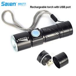 Mini USB Şarj Edilebilir LED El Feneri Torch Ayarlanabilir Odak Zumlanabilir Alüminyum Alaşım Taşınabilir Şarj Edilebilir Işık Lamba nereden lampe torche el feneri tedarikçiler