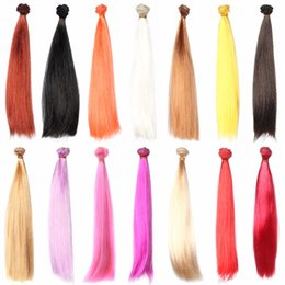 Wholesale Long Wigs For Dolls - 30*100CM BJD Doll Wigs Hair Doll Accessories Long Straight Hair Wigs High-temperature Wire For 1 3 1 4 1 6 BJD SD Toy