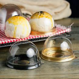 2019 boîtes à gâteaux en plastique Boîte de gâteau en plastique ronde unique individuelles lune gâteau plateau boîtes en plastique Mooncake boîtes de Pvc alimentaire cadeau emballage boîtes S2017385 promotion boîtes à gâteaux en plastique