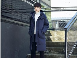 Wholesale Clearance Long Down Coat - Down jacket more young male or long winter coat clearance new han edition cultivate one's morality even cap down jacket for men