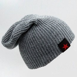 7c3e6da843a 2016 New Winter Hat Female Skullies Beanies Bonnet Brand Knitted Star Hats  For Women Men Hip Hop Baggy Warm Cap Ski Beanie DH016