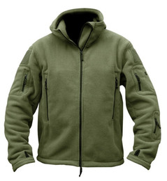 Wholesale Military Tactical Jacket Waterproof - US Military Man Fleece tad Tactical Jacket Outdoor Polartec Thermal Sport Polar Hooded Coat Outerwear Army Clothes