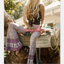 Wholesale Long Cargo Pants For Women - Newest Fashion Vtg Hippie BOHO Tie Dye Gypsy Bell Bottom Loose Wide Leg Flared Long Pants for women Ladies trousers