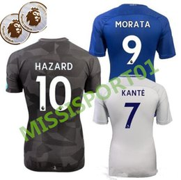Wholesale Dry Tops - HOT top Thai Quality 2017 2018 home blue Chelsea Soccer jersey 17 18 HAZARD FABREGAS TERRY DIEGO COSTA home Jerseys men shirts free shipping