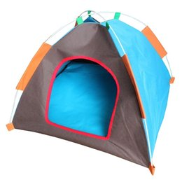 Wholesale Waterproof Dog Houses - 55cm Dog Travel Outdoors Sport Tents Portable Foldable Pet House Waterproof Oxford Cloth Puppy Kennel Random Ship