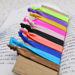 Wholesale Elastic Hair Tie Fold - pinkycolor fold over elastic hair ties bracelet wristbands baby girl ponytail holder Hair Accessories baby girl headband bow