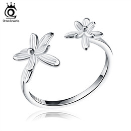 Wholesale 3pcs Fashion Ring Sets - 3Pcs Fashion Authentic Silver Flower Party Ring Open End For Women S925 Certification Fashion Jewelry SR11