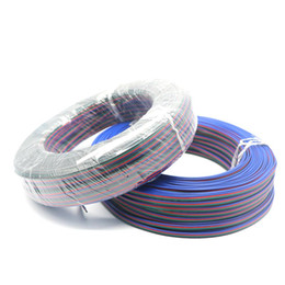 Wholesale Led Rgb Cable Extension - Edison2011 100m 4 Pin Tinned Copper Wire RGB Extension Cable Wire 22AWG LED Strip Electronic Wire Cable DIY Connect Free Shipping