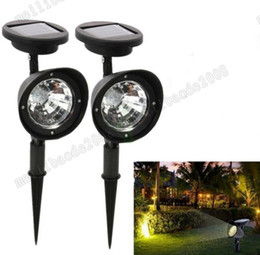 Wholesale Spot Decor - New 3 LED 9W Solar Powered Spotlight Outdoor Garden Landscape Lawn Yard Path Spot decor Light Lamp Auto free shipping MYY