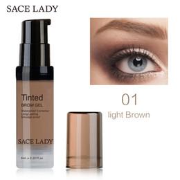 Wholesale Eye Tinting - SACE LADY Henna Shade For Eyebrow Gel 6ml Make Up Paint Waterproof Tint Natural Eye Brow Enhancer Pomade Makeup Cream Cosmetic