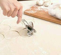 Wholesale Mould Make - Stainless Steel Dough Press Dumpling Pie Ravioli Mould Maker Cooking Pastry Tools Circle Dumpling Device Dumpling Making Machine