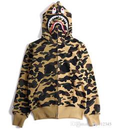 Wholesale Wool Long Coats - 2017 Autumn Winter High quality men women hip hop popular sweatshirts shark men wool fleece sweethearts outfit hoodies fashion jacket Coat