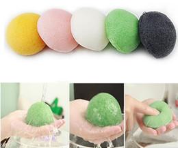 Wholesale Makeup Remover Sponges - Facial Puff Face Cleanse Washing Sponge Natural Konjac Potato Konnyaku Facial Wash Cleansing Sponges Skin care Tools Makeup Remover Cleanser