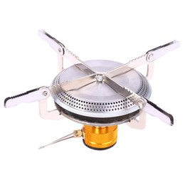 Wholesale Gas Stove Stainless Steel - Camping Gas Burner Mini Stove Head Outdoor Stoves Energy-saving Compact Size Butane Gas Backpacking Camping Gas Burner +B