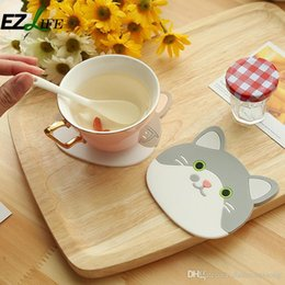 Wholesale Mats Eating - Creative cat princess 3d cup heat water cup Eat mat bowls mat silicone pad heat table mat ZH01366