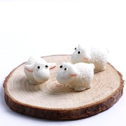 Wholesale Fairy Figurines - 100pcs   Set Kawaii Mini Sheep Dolphins Animals Home Micro Fairy Garden Figurines Miniatures Home Garden Decor DIY Accessories
