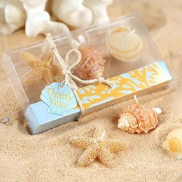 Wholesale Sea Shells Gifts - Sea Shell Unity Candle For Wedding Party Baby Shower Birthday Valentines Gifts Favor Creative Style Design Unity Candle