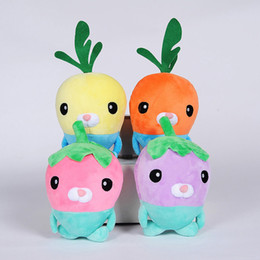 Wholesale Valentine Movie - Wholesale- 4pcs Lot 18cm 4 Colors Cute Carrot Stuffed Plush Toy Doll Plant Baby Toy Creative Christmas Valentine Present Vegetable Toy