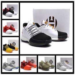 Wholesale Basket Fashion Men - 2017 Hot Harden Vol. 1 BHM Black History Month Mens Basketball Shoes Fashion James Harden Shoes Outdoor Sports Training Sneakers Size 40-46
