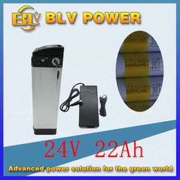 Wholesale Folding Electric Bike Lithium Battery - ebike lithium battery 24v 22ah lithium ion electric Folding bicycle 24v battery for sam-sung for electric bike Discharg 25A send 2a Charger
