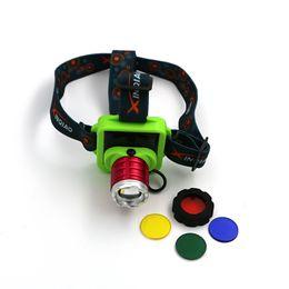 Wholesale Head Light Lens - 3 mode four-color lens mini headlights LED Head Light 3 Modes Headlamp Lantern Hunting Head Headlamps