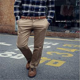 Wholesale Dressing Slim Fit Pants - Wholesale- 2018 Fashion Men Straight Pants Slim Fit Trousers FORMAL CASUAL SUIT DRESS PANTS