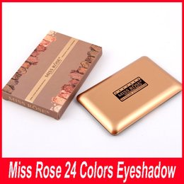 Wholesale Makeup Miss - New Miss Rose 24 Colors Shimmer Eyeshadow Palette Professional Eye Shadow Makeup Palette Natural Eye Cosmetic