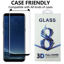 Wholesale Case For Matches - Case friendly tempered glass for Samsung Galaxy S8 S8 Plus 3D curved clear Screen Protector Film match all the cases with retail package
