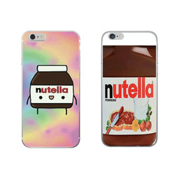 Wholesale Iphone Cute - Nutella Wallpaper Kawaii Cute Cell Phone Case Cover For iPhone 7 7 Plus 5 5s 6 6s Cell Phone Cases OPP BAG
