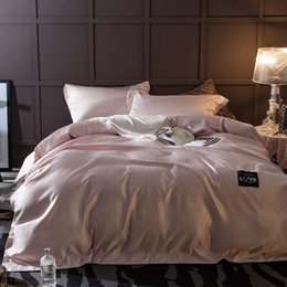 Wholesale Luxury Pink Duvet Covers - 2017 New Luxury Wash Silk Pink Color Queen   King Size Bedding Set   Duvet Cover Set