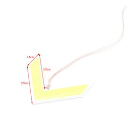 Wholesale Led Arrow Signals - 1X COB LED Car Arrow Panel Light Turn Signal Light Rear view Mirror Light Yellow