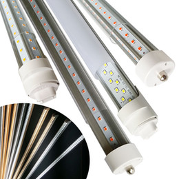 Wholesale Daylight Led Tube Lamp - led tubes light harness 17D 45W 5000Lm Fa8 led lamps t8 tube wires double row 2.4meter 72W Daylight 3000-5000K Cold White 6000-7000K
