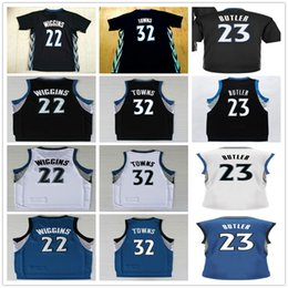Wholesale Arrival Cheap - 2017 New Arrival Player Minnesota 23 Jimmy Butler Jersey Blue White Black Cheap 22 Andrew Wiggins 32 Karl-Anthony Towns Basketball Jerseys