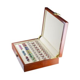 Wholesale Box Wood Painting - Brand Luxury 20pairs Capacity Jewelry Cufflinks Rings Gift Box 240*180*55mm Cuff Link Boxes High Quality Painted Wooden Box Case