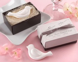 Wholesale Bird Favors - Wholesale- 20 pcs Soap Love Bird Wedding Favors and Gifts Baby Shower Souvenir Baby Shower Favor Lembrancinha de Casamento Obsequios Boda