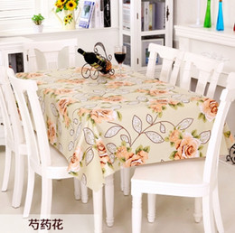 Wholesale Pvc Tablecloths - Pastoral Floral Print Table Cloth PVC Tablecloths Wedding Decoration Waterproof Oilproof Rectangular Table Cover New Year Gift