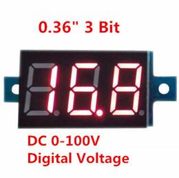Wholesale Led Digital Panel Meter Voltmeter - New Mini 0.36 inch DC 0-100v 3 bits Digital Red LED Display Panel Voltage Meter Voltmeter tester