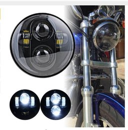 Wholesale Projector Low Beam - 5.75 LED Headlight High Low Beam 5 3 4' LED Headlamp Driving Light for Motorcycle Projector Daymaker Headlights
