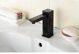 Wholesale Automatic Sensor Faucets - brass washbasin faucet Automatic Sensor faucet single cold tap black faucet