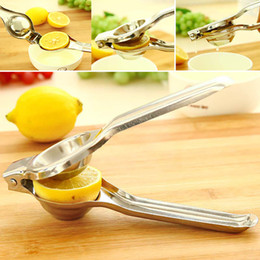 Wholesale Fresh Fruits Vegetables - Stainless Steel Lemon Squeezer Reamers Manual Juicer Sturdy Lime Squeezer Anti-corrosive Fruit Vegetable Lime Fresh Juice Tools WX-C41