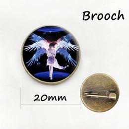 Wholesale Mermaid Pins - Dance Bottle cap Jewelry, Gymnastics , Dance Ornament, Ballerina brooch jewelry beauty Angel Mermaid women badge pins