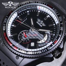 Wholesale Mechanical Military Watches - WINNER Brand Mens Watches Vintage Relogio Sports Automatic mechanical Watches Military Army Silicone Strap Watch