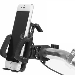 Wholesale Usb Switches - Generic 2 in 1 Waterproof Motorcycle Cell Phone Mount Holder with USB Charger Power Switch 3.3FT Power Cable