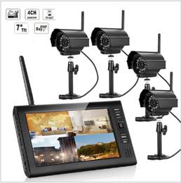 Canada Nouveau 7 Pouce Moniteur Sans Fil CCTV Kit 2.4GHz 4CH Canal CCTV DVR 4PCS Sans Fil Caméras Audio Vision Nocturne Système de Sécurité À Domicile Offre