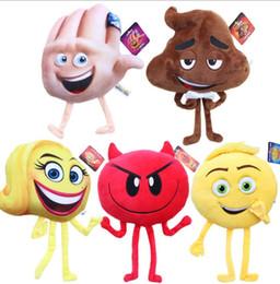 Wholesale Crazy Anime Wholesale - Emoji Movie Plush Toys Stuffed Dolls Cartoon Character Plush Toys 20-25cm Stuffed Plush Crazy Happy Soft Toy KKA1862