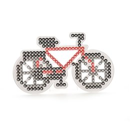 Wholesale Beads Pegboards - Wholesale- 1 Pcs Pegboard Bicycle Shape Model Template for EVA Beads Plastic Stencil DIY TOY