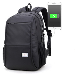 Wholesale Macbook Pro 15 Backpack - Multifunction USB charging Men 15.6 inch Laptop Backpacks For Teenager Fashion Male Mochila Leisure Travel backpack Bussiness bag