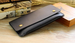 Wholesale Man Thin Wallet - New women&men long style Genuine cow leather wallet restoring ancient thin mobile phone clasp card bag popular clutch purse no40