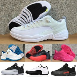 Wholesale Woman Shoes Size 12 - 2017 Retro 12 Low Basketball Shoes Men Women Retro 12s XII Gamma Blue Playoffs Taxi Grey Black White Red Sneakers Size 5.5-13